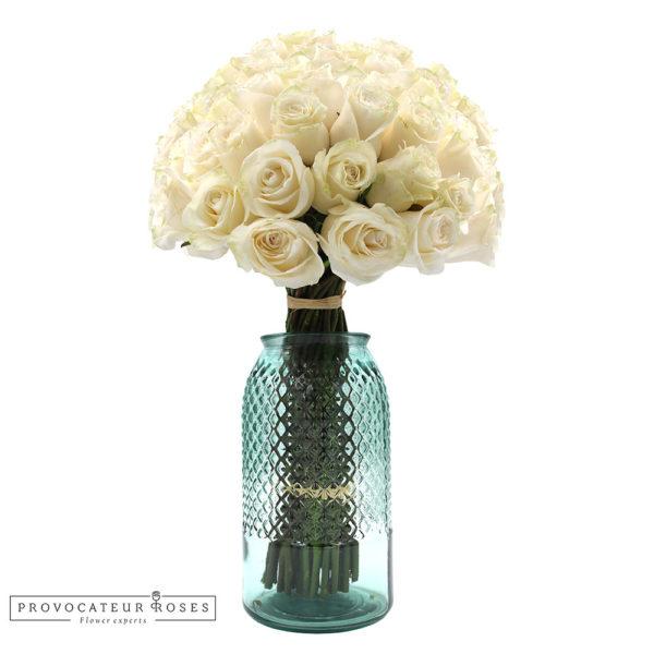 Ramo de rosas blanca