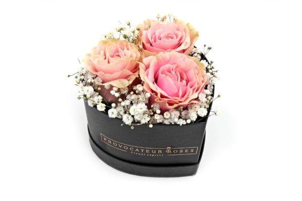 Caja Corazon 3 rosas